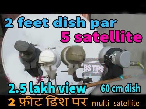 5 satellite ON 60 CM DISH