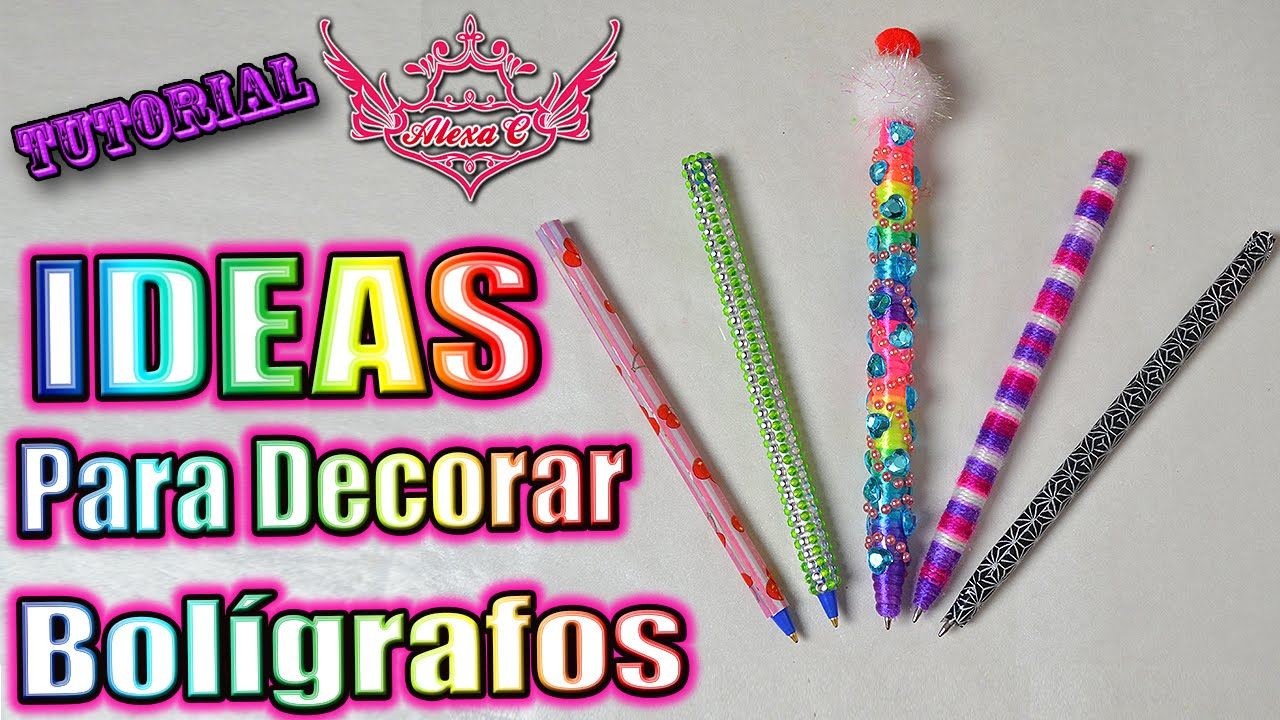 Tutorial ideas para decorar tus bol grafos youtube - Como decorar mis fotos ...