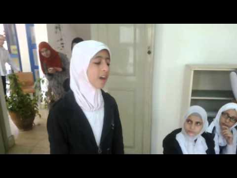 الطالبة زهراء تبكينى فى اجمل اغانيها الوطنية ببيت ثافة البصراط