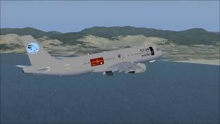 FSX Full flight from Naples to Cagliari with Airbus A320 Fly Jlm