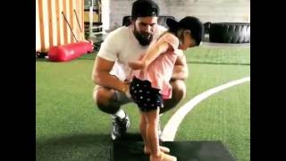 little girl and her dad at the gym cade cowdin original