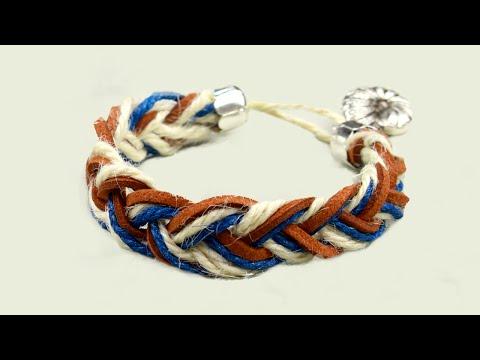 Вопрос: Как сделать веревочный браслет?