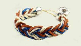 Как сделать браслет из веревки в морском стиле своими руками