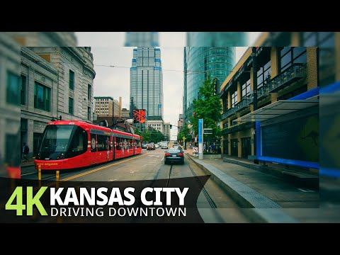 Kansas City 4K60fps - Driving Downtown - Missouri, USA