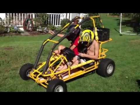 190 cc two seater go kart youtube. Black Bedroom Furniture Sets. Home Design Ideas