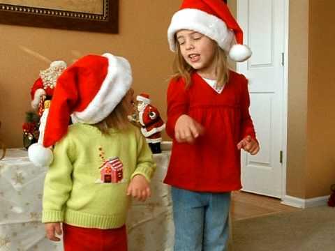 Brigid and Gretchen Sing Rudolph