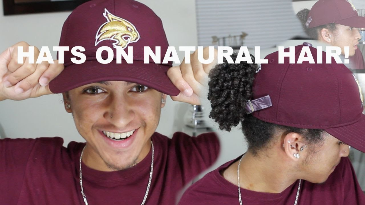 Putting a Hat on Natural Hair  f3a763343f6