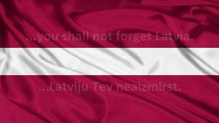 Andris Kivičš & Laura Dabare - Par Latviju (Lyrics + English Translation)