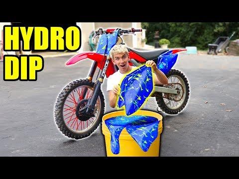 HYDRO DIP DIRTBIKE!!