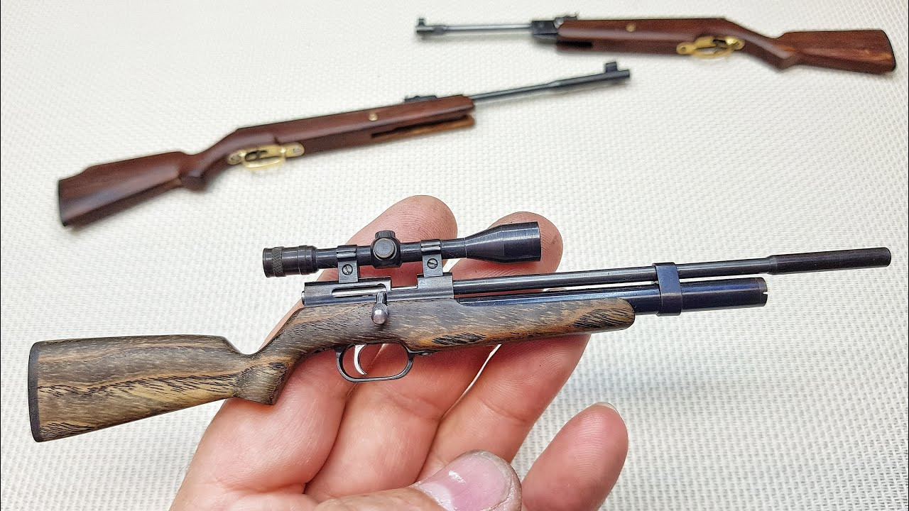 Miniature model PCP air rifle (pre-charged pneumatic)