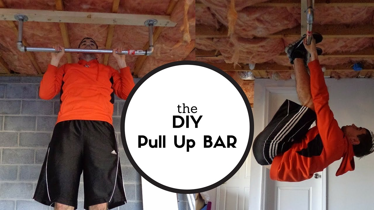 diy gym workout home pull pin garage up pinterest and calisthenics bar