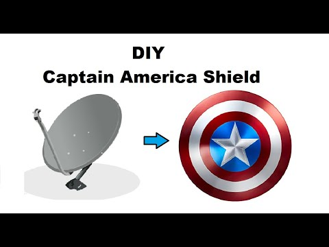 How to make Captain America's shield from used satellite dish antenna || DIY Captain America shield