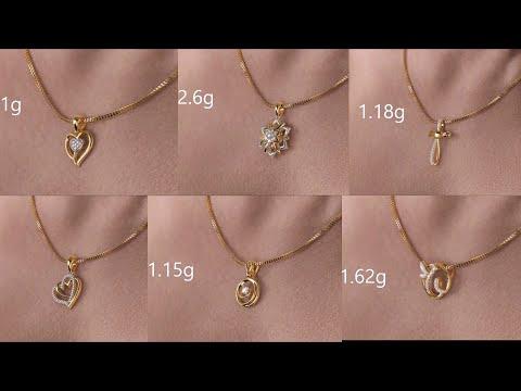 Latest lightweight gold pendant designs