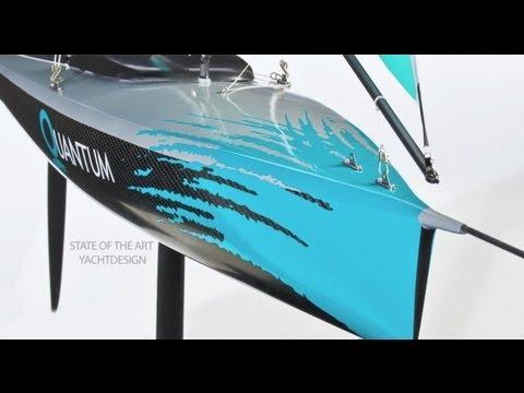 Carbon fiber salt water resistant high performance model sailing boat