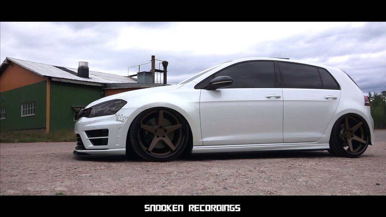VW Mk7 golf R | Bagged and 400hp - YouTube
