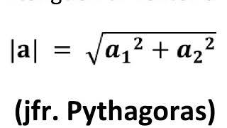 Pythagoras anvendes i vektorregning
