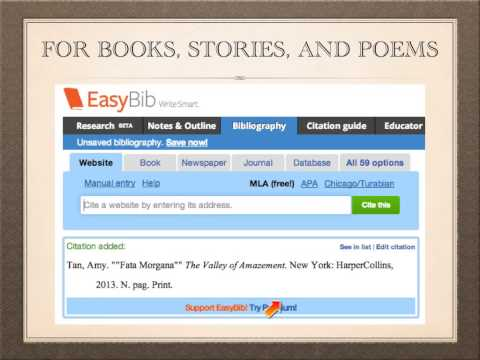 Creating Your Works Cited Page - Books, Stories, Poems, and Songs