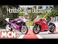 Honda RC30 vs Ducati V4R comparison | MCN | Motorcyclenews.com