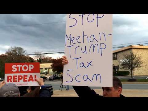 GOP TaxScam Protest at Rep. Pat Meehan's Springfield PA office