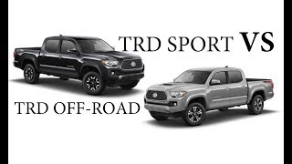 Tacoma TRD Offroad or Sport?