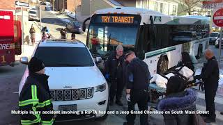Multiple Injury Accident Involving RIPTA Bus and Car