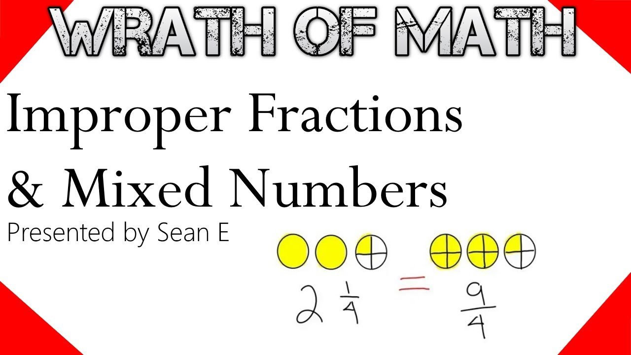 improper fractions and mixed numbers (definitions and conversions