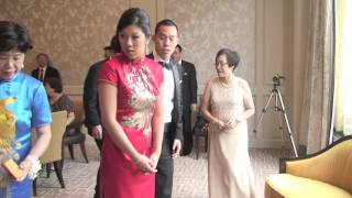 CHINESE TEA CEREMONY IN A WEDDING