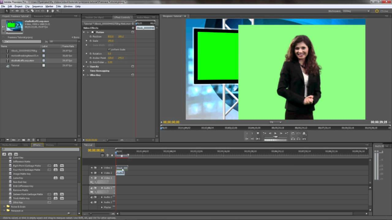 gratis adobe premiere pro cs5 chroma key