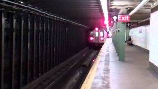 MTA IRT Eastern Pkwy: Utica Av bound (2) & (4) trains passing Nostrand Av