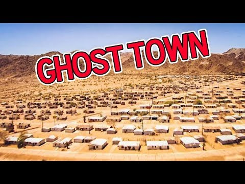 ABANDONED gigantic GHOST TOWN in the California Desert (bloo
