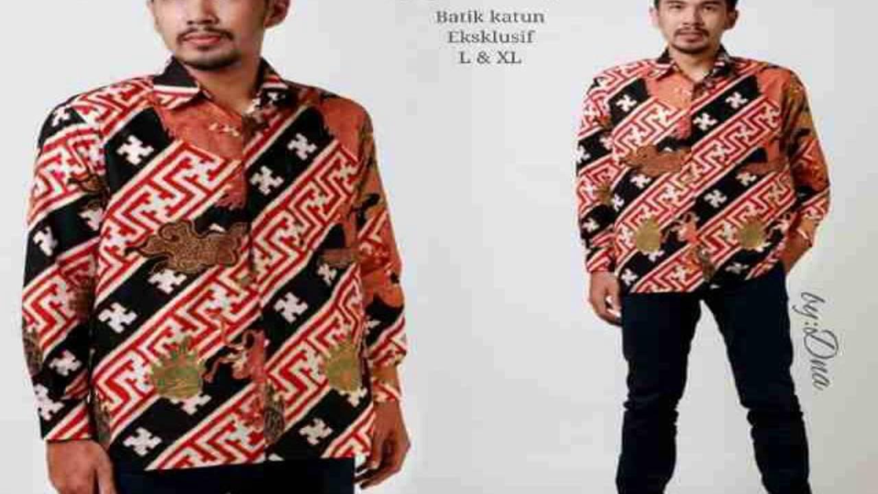 Dinar Batik Art Model Gamis Batik Kombinasi Youtube