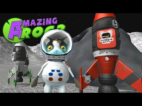 Saving Space Cats and Exploring UFOs! - Let's Play The Amazing Frog Gameplay- Swindon Space Program