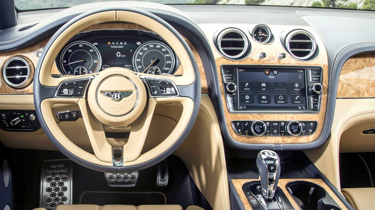 2017 bentley bentayga interior youtube. Black Bedroom Furniture Sets. Home Design Ideas