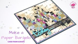 Recycled Paper Bargello Card | KISSing Class #09