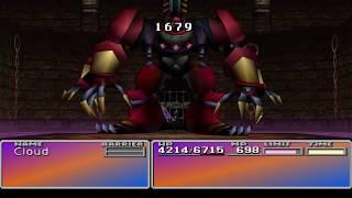Final Fantasy VII 7 Disk 3 Battle Arena Special Battles Ribbon & Final Attack
