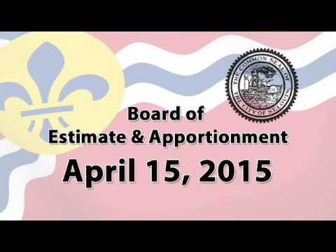 Board of Estimate & Apportionment   April 15, 2015