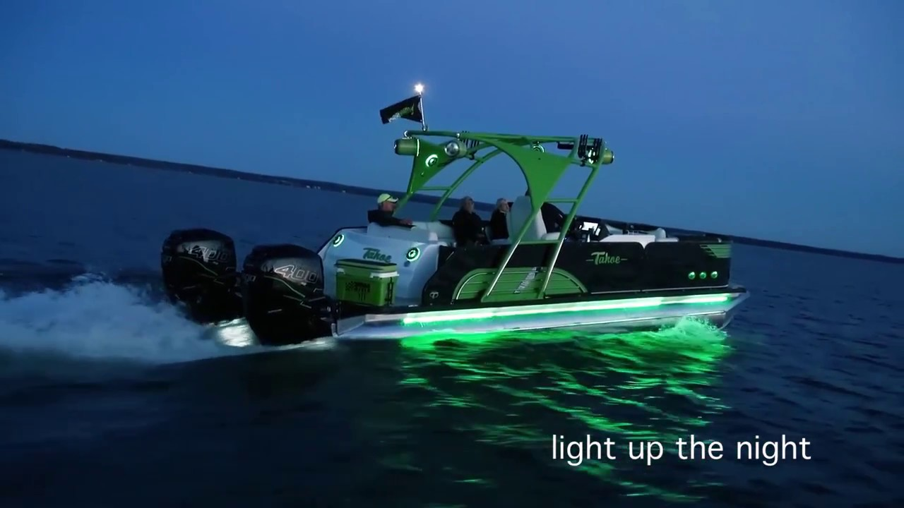 14 2017 Tahoe Pontoons Led Lights Compilation Youtube