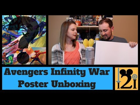 Avengers Infinity War Poster UNBOXING