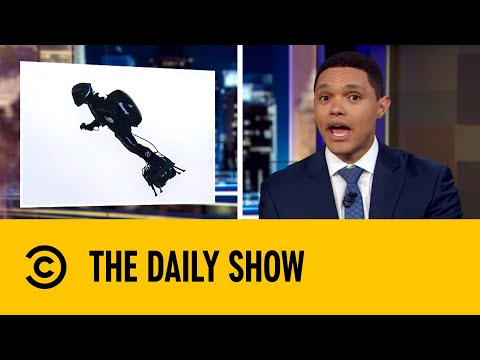 French Daredevil Flies Hover-board From France to England | The Daily Show with Trevor Noah
