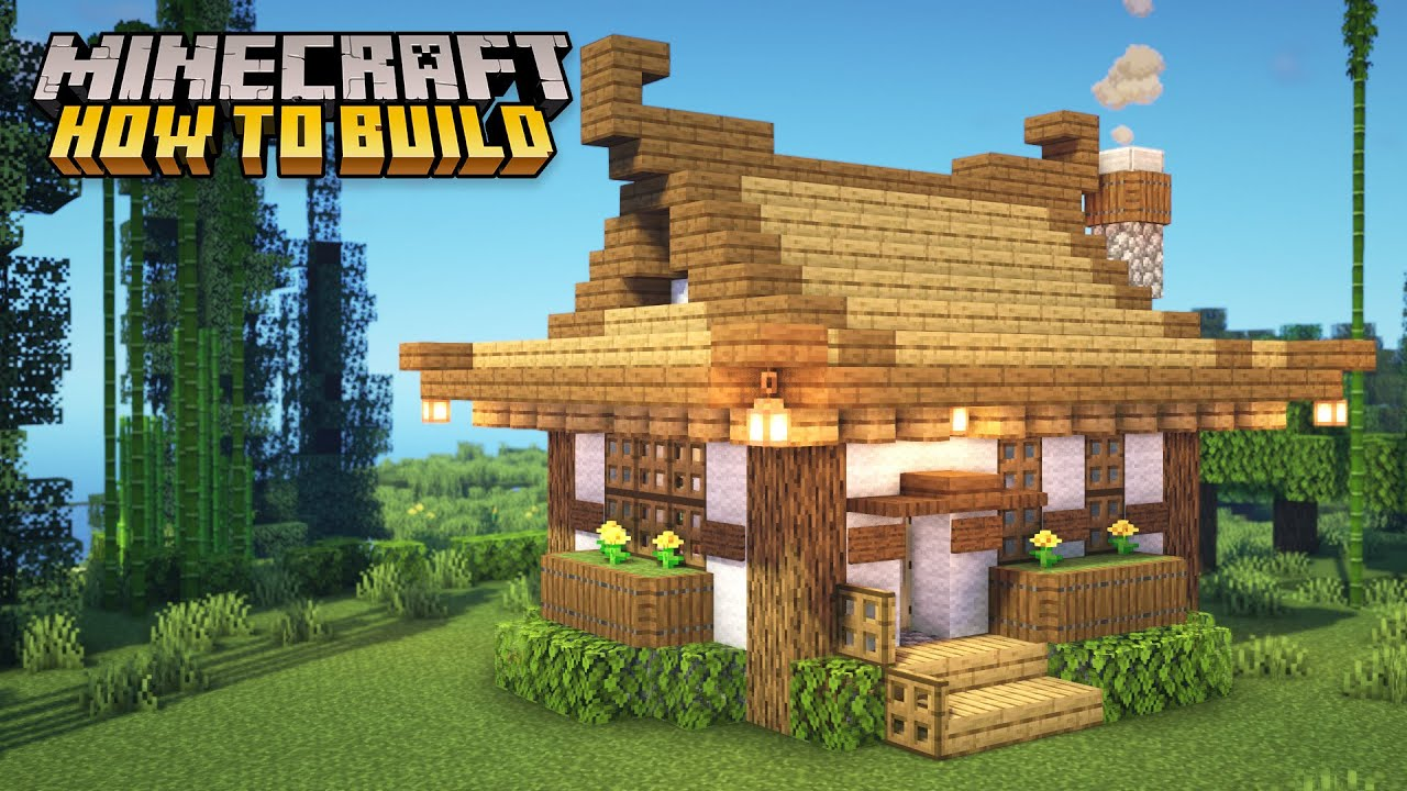 Minecraft How To Build A Small Japanese House Part 1 Youtube