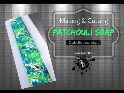 Making / Cutting ' Patchouli ' Soap - Clyde  Slide Style - cold process