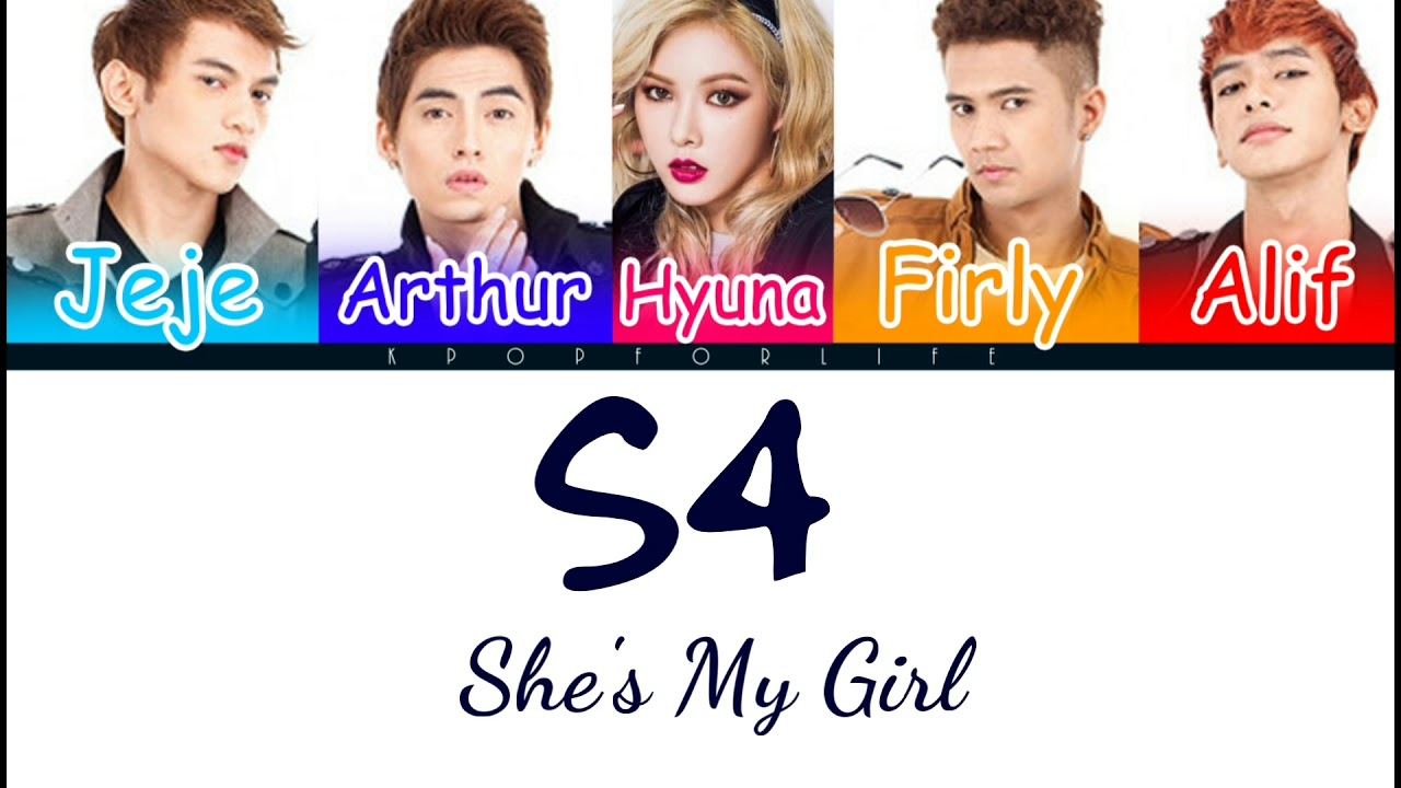 Download S4 Ft. HYUNA 'SHE'S MY GIRL' COLOR CODED LYRICS [INDO|ENG]