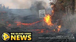 hawaii volcano blue flames