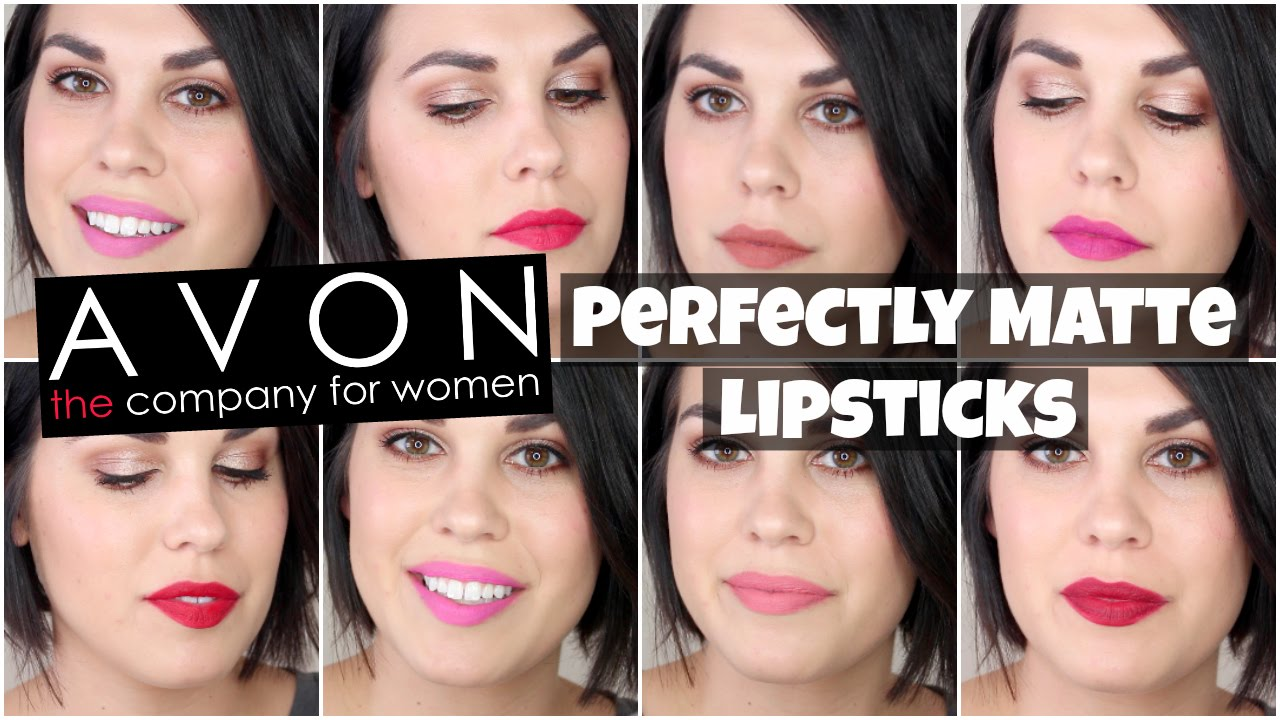 Avon True Color Perfectly Matte Lipsticks Lip Swatches Review
