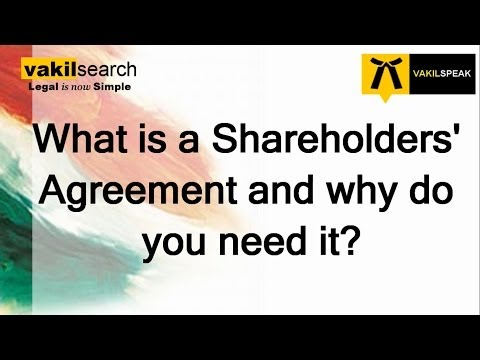 What is a Shareholders Agreement and why do you need it?