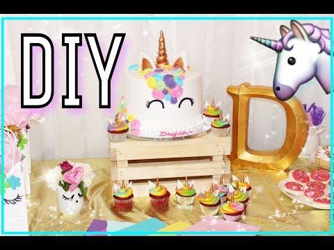 6 DIY LINDOS Y FACILES! Para Fiesta De Unicornio!