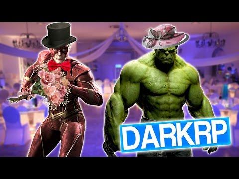 GMOD DarkRP FR #87 : FLASH ET HULK SE MARIENT ! - Xeos
