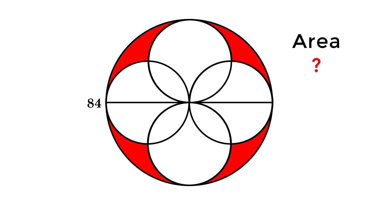Can You Solve This Problem For 12 Year Olds In Singapore? 4 Overlapping  Circles Puzzle