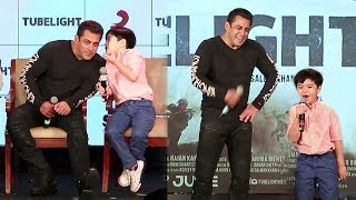 Salman Khan's CUTE & Funny Moments With Tubelight's Matin Rey Tangu