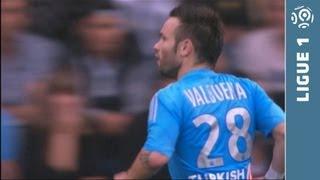 Great free kick Mathieu VALBUENA (58') - FC Lorient - Olympique de Marseille (0-2) - 2013/2014